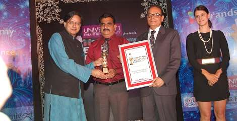 Award received by Shashi Tharoor